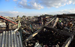 墨西哥城附近的一個大煙花市場週二(12月20日)發生爆炸,一名了解第一手資料的當局執法人員表示,爆炸造成至少27人死亡,80多人受傷。(RONALDO SCHEMIDT/AFP/Getty Images)