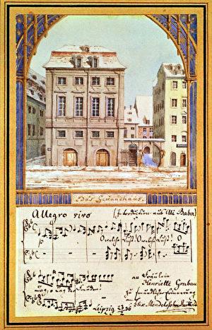第一代萊比錫布商大廈 。( 維基百科)