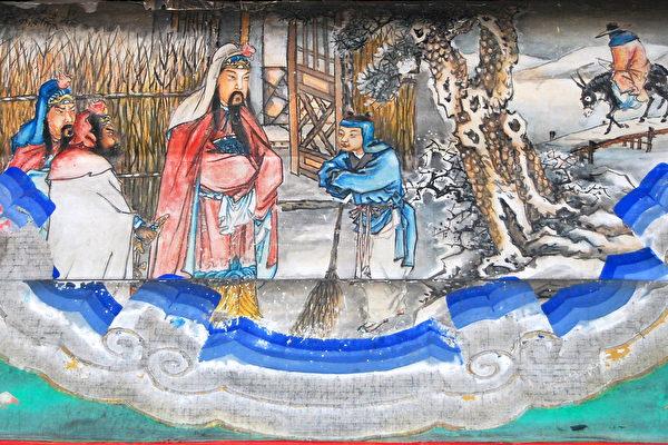颐和园长廊上的彩绘:三顾茅庐。(公有领域)