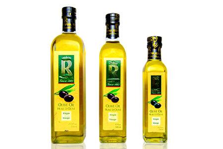 初榨橄欖油750ml、500ml、250ml。(峻岳貿易提供)