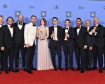 今年金球奖被提名7项大奖的电影《乐来乐爱你》,这次奖项全中,得奖率百分百。 (Kevin Winter/Getty Images)