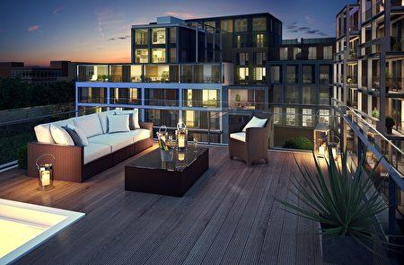 大多數家庭用有私人露臺或陽臺,在城市中心位置為居民提供了頗受歡迎的戶外空間。