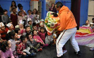 华人联合会舞狮活动 深受欢迎