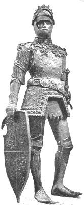 亞瑟王的一座石雕(維基百科公有領域)