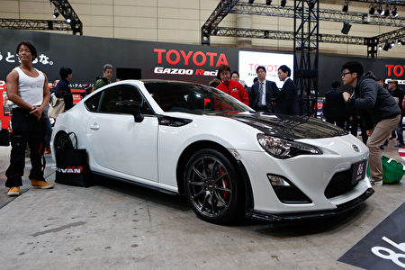 CHIBA, JAPAN - JANUARY 15: A Toyota GRMN 86 vehicle on display during the 2016 Tokyo Auto Salon car show on January 15, 2016 in Chiba, Japan. TOKYO AUTO SALON 2016 is held from January 15 to 17, 2016. (Photo by Christopher Jue/Getty Images)