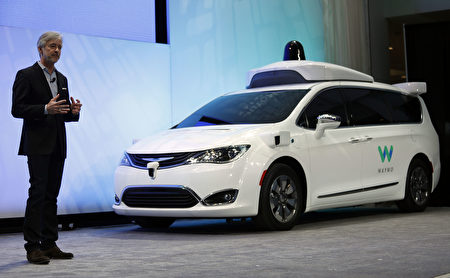 DETROIT, MI - JANUARY 8: John Krafcik, CEO of Waymo, debuts a customized Chrysler Pacifica Hybrid that will be used for Google's autonomous vehicle program at the 2017 North American International Auto Show on January 8, 2017 in Detroit, Michigan. Approximately 5000 journalists from around the world and nearly 800,000 people are expected to attend the NAIAS between January 8th and January 22nd to see the more than 750 vehicles and numerous interactive displays. (Photo by Bill Pugliano/Getty Images)
