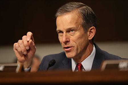 参院商务委员会主席为参议员图恩(John Thune)。(Joe Raedle/Getty Images)