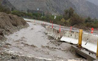 週四暴雨繼續滂沱 造成泥石流