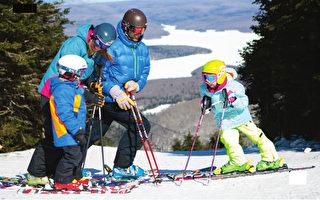 带着孩子去滑雪