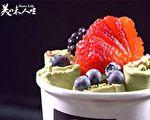 色彩繽紛的泰式冰淇淋(新唐人提供)