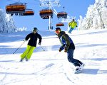Okemo滑雪场宽广的雪道。(Okemo滑雪场提供)