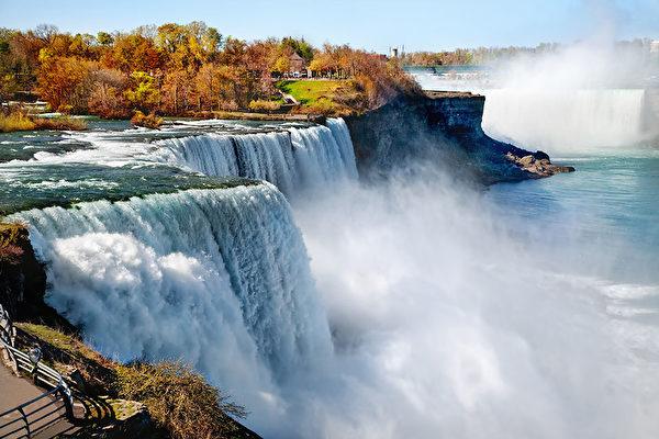 """乘坐""""枫叶号""""欣赏尼亚加拉瀑布--世界著名自然遗产,世界七大奇景之一(图片:shutterstock)"""