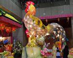 組圖:鹿港天后宮花燈 四大美人婀娜迎賓
