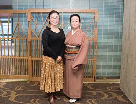 在日本家喻戶曉的日本舞蹈專家若柳京辛表示,能在日本看到如此精采的神韻演出,感到榮幸及幸福。(野上浩史/大紀元)