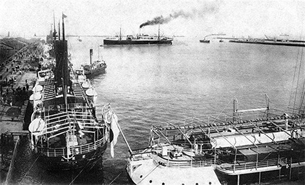 日據時期大連港口舊照(維基百科公有領域)