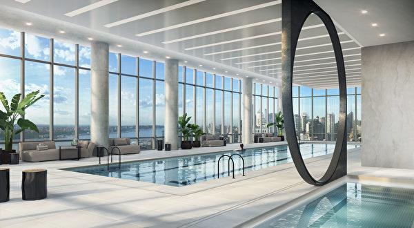 15 Hudson Yards楼内游泳池概念图。(Related-Oxford提供)