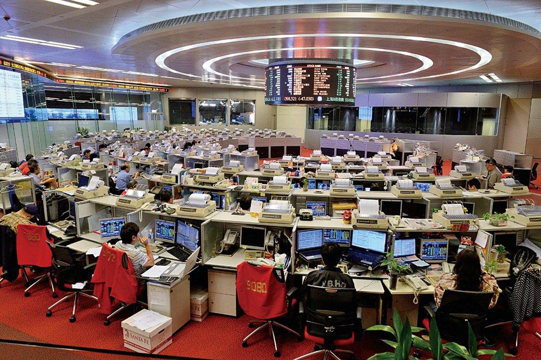 港股十餘隻股票崩盤式下跌