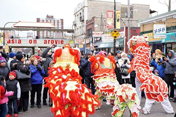 北華埠新年遊行 慶多族裔融合