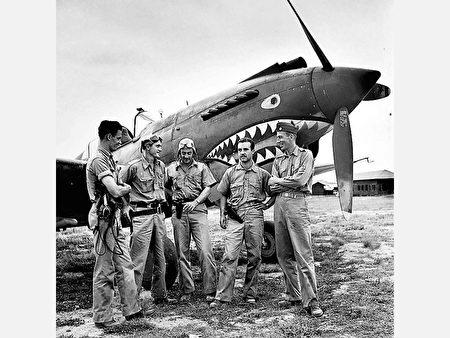 抗日战争时期 ,美军援助中国的飞虎队(图片:公有领域)