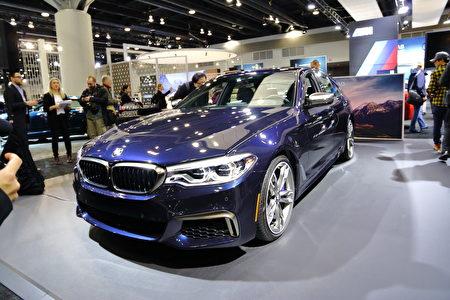 图:BMW M550i。(李奥/大纪元)