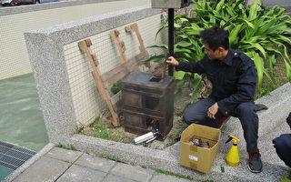 加强浓烟救灾训练 高桂分队制燃烧模型箱