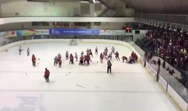 台U18冰球赛冲突 大陆队打人两人遭禁赛
