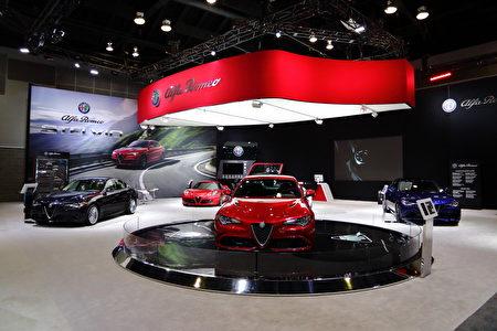 Alfa Romeo的展厅。(李奥/大纪元)