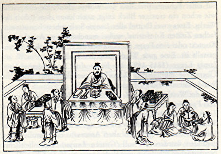 孔子教学图(公有领域)