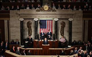 川普(特朗普)28日晚在國會發自內心的演說,打動美國人民。(Chip Somodevilla/Getty Images)