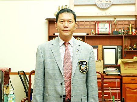 3470地區總監謝奇峯。(陳瑩聰/大紀元)