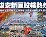 4月1日,中共政府突然宣布在河北省成立雄安特区,一夜间,当地楼价翻升四五倍,相关概念股大炒(大纪元合成图)