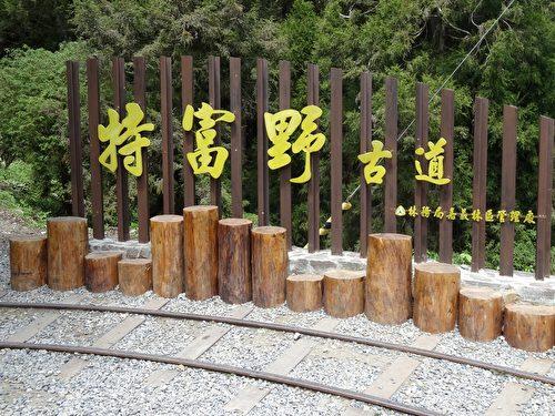 海拔二千三百公尺新中橫公路「自忠」端的特富野古道入口處意象。(曾晏均/大紀元)