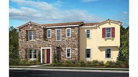 灣區房市中為數不多的新獨立屋社區,Taylor Morrison 開發的Santina小區。(矽谷房地產經紀Li Jin提供)