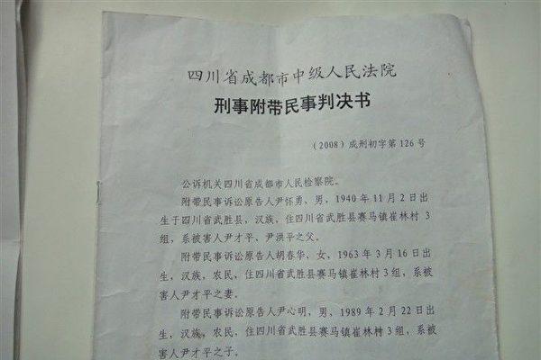 川农被打死 11年维权无果 家属报案情至省长