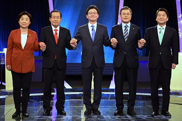 韩5总统候选人电视辩论  萨德成焦点