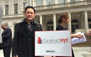 建築公司老闆黃先生認為,作為一個華人企業家,可以用自己專業的能力來幫助社區。 (于佩/大紀元)