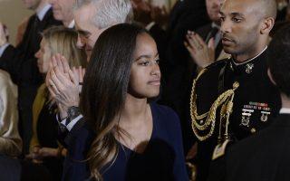 奧巴馬長女瑪麗亞(Malia Obama)。 (Olivier Douliery-Pool/Getty Images)