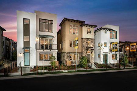 聖荷西新房,KB HOME開發的Communication Hill小區。(矽谷房地產經紀Li Jin提供)