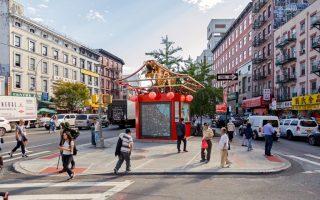 """纽约中国城添""""迎客大门"""" 或建地标建筑"""