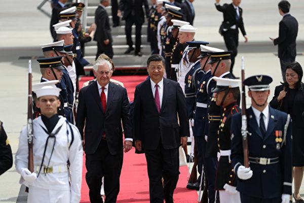 蒂勒森:相信习近平也认同朝鲜半岛局势激化
