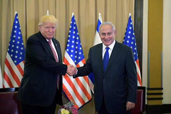"""首访以色列如""""踩高跷"""" 川普展示平衡力"""