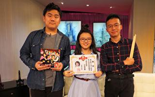 葉子(左起)、小西瓜、威力一起出席節目接受專訪。(台視提供)