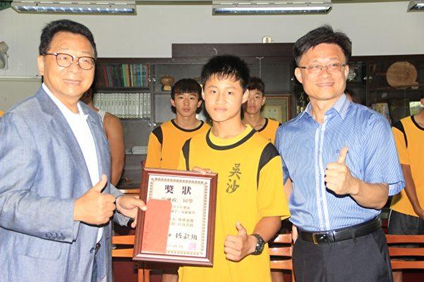 吳融政:入選U18組青少年激流錦標賽國手。(謝月琴/大紀元)