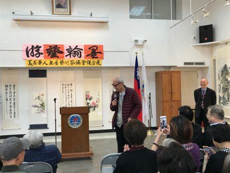 文学大师王鼎钧出席开幕式。