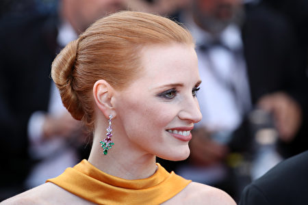 CANNES, FRANCE - MAY 23: Jury member Jessica Chastain attends the 70th Anniversary of the 70th annual Cannes Film Festival at Palais des Festivals on May 23, 2017 in Cannes, France. (Photo by Chris Jackson/Getty Images)