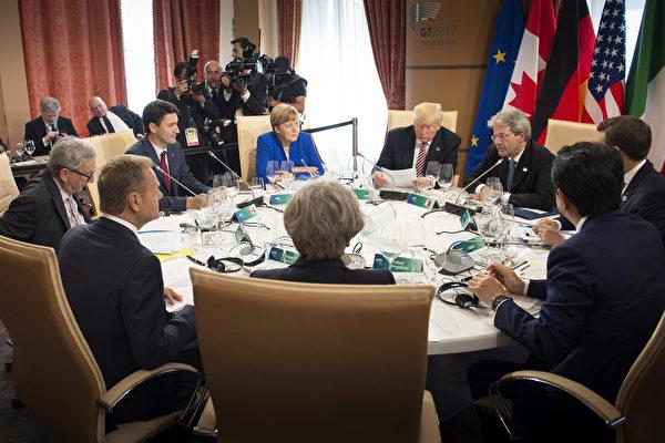 G7峰会 法总统称贸易谈判取得重大进展