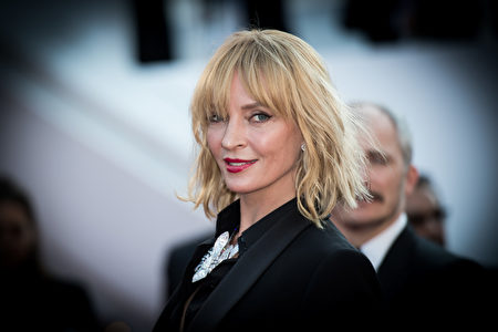 """CANNES, FRANCE - MAY 27: Uma Thurman attends the """"Based On A True Story"""" screening during the 70th annual Cannes Film Festival at Palais des Festivals on May 27, 2017 in Cannes, France. (Photo by Matthias Nareyek/Getty Images)"""