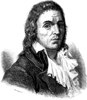 弗朗索瓦‧诺埃尔‧格拉克斯‧巴贝夫(1760—1797)被认为是第一个共产主义革命者。出自法国历史学家嘉洛瓦(Léonard Gallois)1846年一本著作的插图。(公有领域)