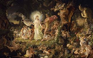 《仲夏夜之夢》,《奧布朗與提泰妮婭的爭吵》,約瑟夫.諾埃爾.佩頓繪。(維基百科)