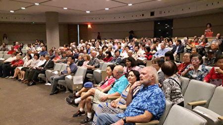 逾200名观众出席,现场几近满座(图片由驻加拿大台北经济文化代表处提供)